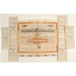 Corsicana Gs Light Co. Bonds (7)   (69020)