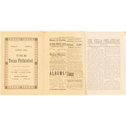 The Texas Philatelist March 1887 Pamphlet   (53610)