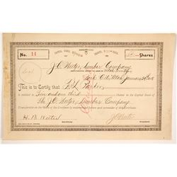 J. C. Weeter Lumber Company Stock   (86720)