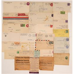 Postal History Ephemera Includes Western Union Telegraphs   (106009)