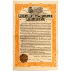 Spokane, Valley & Northern Railway Co. Bond   (52640)