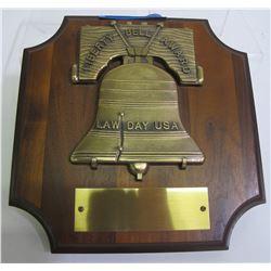 Blank Liberty Bell Award Plaque   (8639)