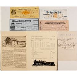 Checks, Banking, & Article About Russian Settlement in West   (76220)