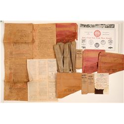 Explosives Tamping Bags and Ephemera   (106412)
