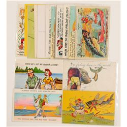 Humorous Fishing Postcards   (104961)