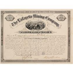 Lafayette Mining Co. Stock Cert.   (76252)