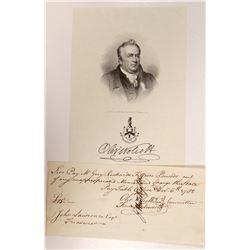Letter signed by Oliver Wolcott, Declaration Signer   (106600)