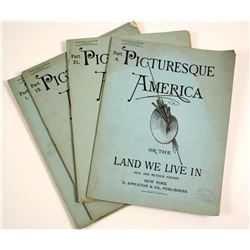 Picturesque America or the Land We Live In Booklets (4)   (86430)