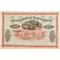 Riverside Iron & Cole Company of Scranton Stock Cert.   (76257)