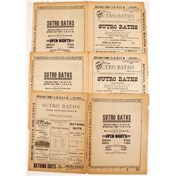 Sutro Baths Official Programs (3)   (78323)
