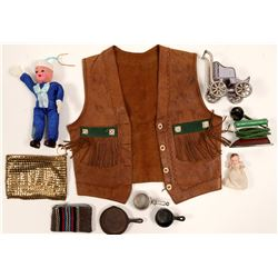 U.S. Navy Doll, Toy Fry Pans, Baby Leather Vest, Grab Bag   (105474)