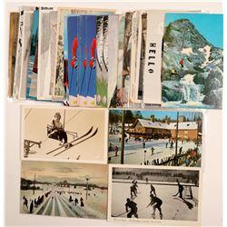 Winter Sports Postcards   (104982)