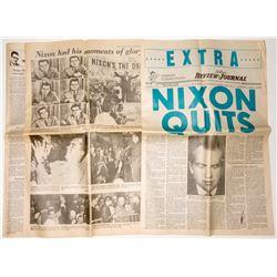 "Newspaper, ""Nixon Quits""   (25256)"