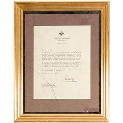 Hubert Humphrey VP Letter in Frame   (73017)