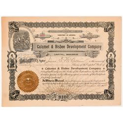 Calumet & Bisbee Development Co. Stock Certificate   (104261)