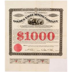 Golden Eagle Mining Company $1,000 First Mortgage Bond.    (55070)