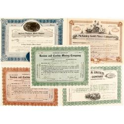 Gold Mining Stock Certs. (5)    (76202)