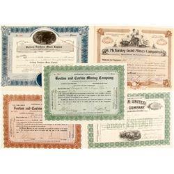 Gold Mining Stock Certs. (5)    (76202)