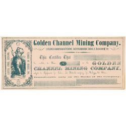 Golden Channel Mining Company Stock Certificate   (107032)