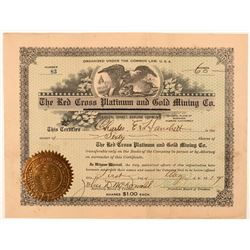Red Cross Platinum & Gold Mining Co. Stock Certificate   (107281)
