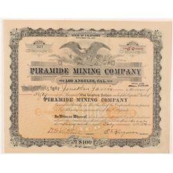 Piramide Mining Company Stock Certificate   (104406)