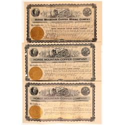 Horse Mountain Copper Company Stock Certificates   (107248)