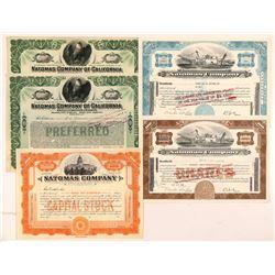 Natomas Company Mining Stock Certificates   (107278)