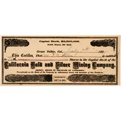 California Gold & Silver Mining Co. Stock Certificate   (107314)