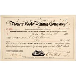 Pioneer Gold Mining Company   (87973)