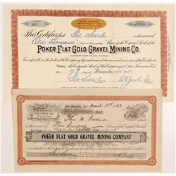 Poker Flat Gold Gravel Mining Co. Stock Certificates   (107131)