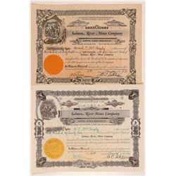 Salmon River Mines Company Stock Certificates   (107251)