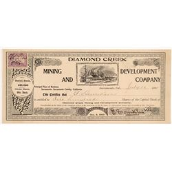 Diamond Creek Mining & Development Co. Stock Certificate   (107133)
