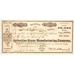Asbestine Stone Manufacturing Company Stock   (86157)