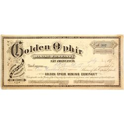 Golden Ophir Mining Co. Stock   (83306)