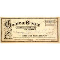 Golden Ophir Mining Co. Stock   (83306)