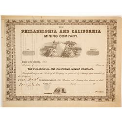Philadelphia and California Mining Company Stock   (86037)