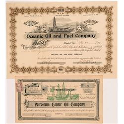 Two California Petroleum Stock Certificates   (104364)