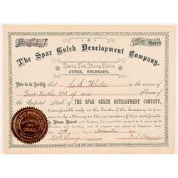 Spar Gulch Development Company Stock Certificate   (104359)