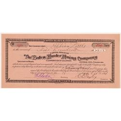 Bates-Hunter Mining Company Stock Certificate   (107169)