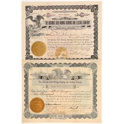 Advance Gold Mining Bonding & Leasing Co. Stock Certificates   (107156)