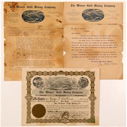 Winner Gold Mining Co. Stock Certificate & Letters   (104232)