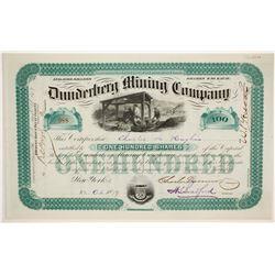 Dunderberg Mining Company Stock   (86727)