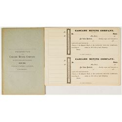 Prospectus for The Cascade Mining Company of New York & Colorado   (34821)