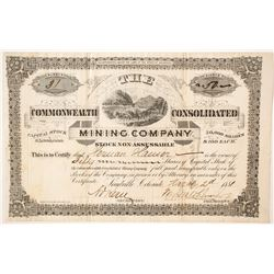 Commonwealth Consolidated Mining Company Stock   (85224)