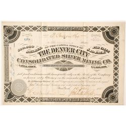 Denver City Consolidated Silver Mining Company   (85234)