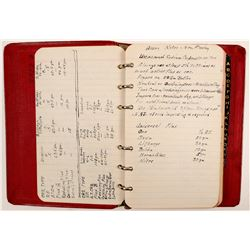 Mining Engineer Hand Written Notebook   (105081)