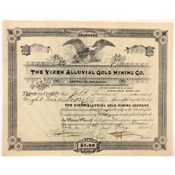 Vixen Alluvial Gold Mining Co. Stock Certificate   (104380)