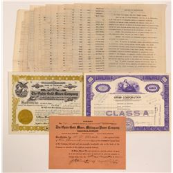 Ophir Gold Mines Stocks & Ephemera   (104295)