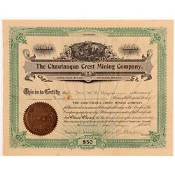 Chautauqua Crest Mining Company Stock Certificate   (107175)