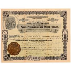 Buckskin Tunnel, Transportation and Mining Co. Stock Certificate   (107164)
